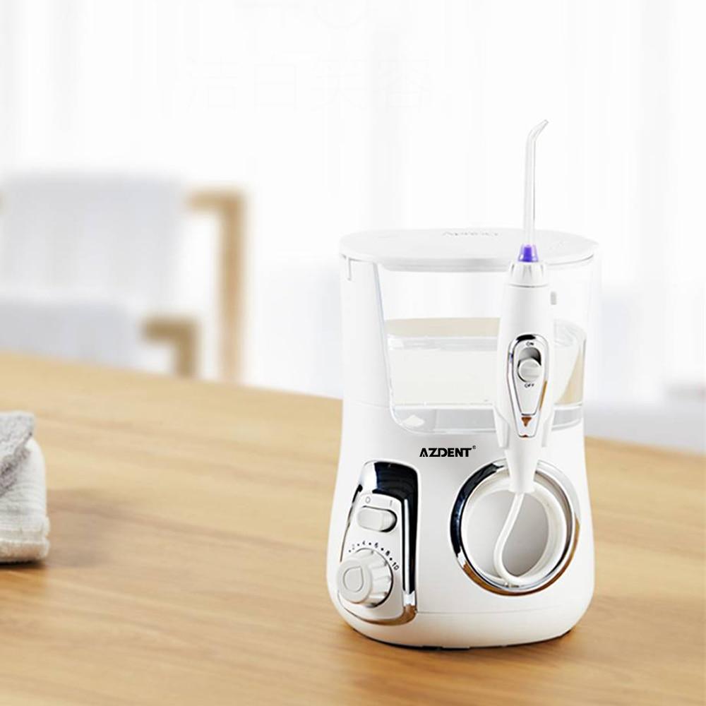 AZDENT 800ml Electric Oral Irrigator Dental Water Flosser With 5 Jet Tips Dental Oral Hygiene 10 Pressures Teeth Cleaner Floss