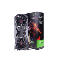 Оригинальный красочный NVIDIA IGame GeForce GTX1080Ti вулкан X OC видео Графика карты 11 г GDDR5 1620 мГц 16nm 352bit DVI HDMI DP 1,4