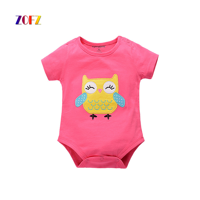 ZOFZ new baby girl clothes short sleeve Body clothes for babies cute overalls cotton baby costume character rompers for newborns