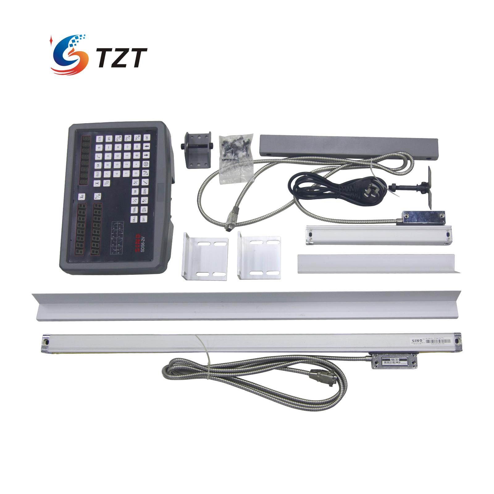 Digital Readout 2 Axis DRO with 2 pcs SDS6-2V Linear Scales Complete DRO Kit SINO free shipping complete set milling lathe drill machine dro digital readout with 3 pcs linear scales
