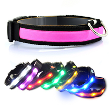 Nylon Glow font b Pet b font Supplies Dog Cat Collar for for Dogs Designer Products