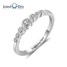 Свадебные аксессуары, персонализированный подарок, выгравированное имя, 925 пробы, серебряные кольца для женщин, юбилейные ювелирные изделия(JewelOra RI103751