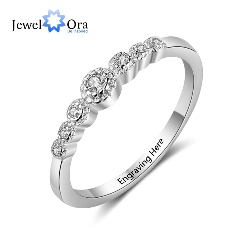 e1662c80db8b Boda accesorios regalo personalizado grabado nombre 925 anillos de plata  esterlina para mujeres joyería de aniversario (JewelOra RI103751)