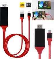 2M typu C HDMI kabel telefoniczny podłączyć do telewizora Adapter HDTV udział ekranu Link do MacBook Dell ASUS Samsung S8 s9 + S10 + Huawei P20 P30