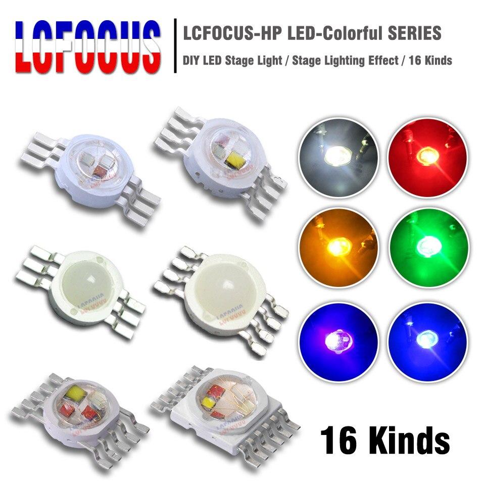 RGB RGBW RGBWW RGBWY RGBWYV Yüksek Güç led çip 3 W 4 W 5 W 6 W 15 W 18 W renkli DIY kalıp LED Sahne Işık Kaynağı Boncuk