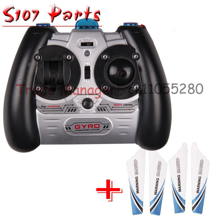 цена на Free shipping syma s107 remote + blade kit s107g rc helicopter Accessories s107 remote the remote
