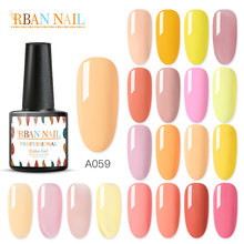 RBAN NAIL 7ml UV Gel Nail Polish Pure Semi Permanent Lacquer top coat UV LED Gel Varnish Soak Off Nail Art Gel Nail Polish modelones 3pcs lot gel nail polish set kit semi permanent uv purple nail polish nail art soak off led uv nail salon set