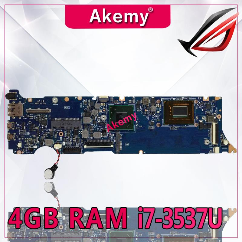 Akemy UX31A2 Laptop motherboard for ASUS UX31A UX31 Test original mainboard 4G RAM I7-3537U REV2.0Akemy UX31A2 Laptop motherboard for ASUS UX31A UX31 Test original mainboard 4G RAM I7-3537U REV2.0