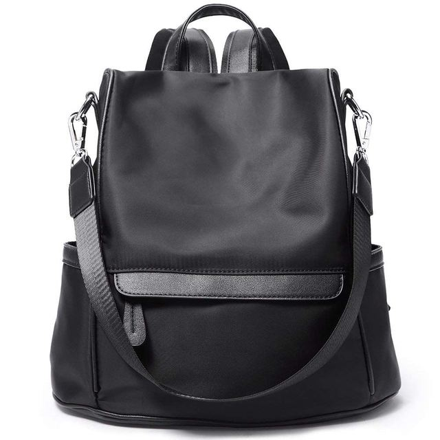 8deaae6bf6 FGGS Women Backpack Purse Nylon Fashion Casual Convertible Shoulder Bag  Lightweight Water Resistant School Backpack