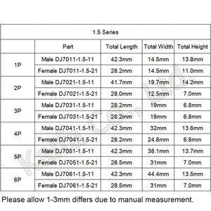 Image 2 - 30 zestawów zawiera (1 + 2 + 3 + 4 + 5 + 6P) złącza AMP 1.5 wtyk męski i żeński, złącza samochodowe wodoodporne złącze lampy ksenonowej