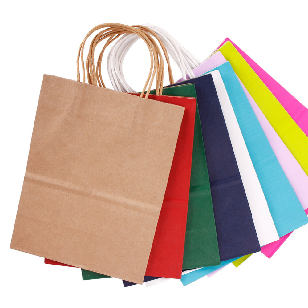 New High Quality Kraft Paper Bag With Handles Festival Gift Bag For Wedding Birthday Party Jewelry Paper Bags #242291