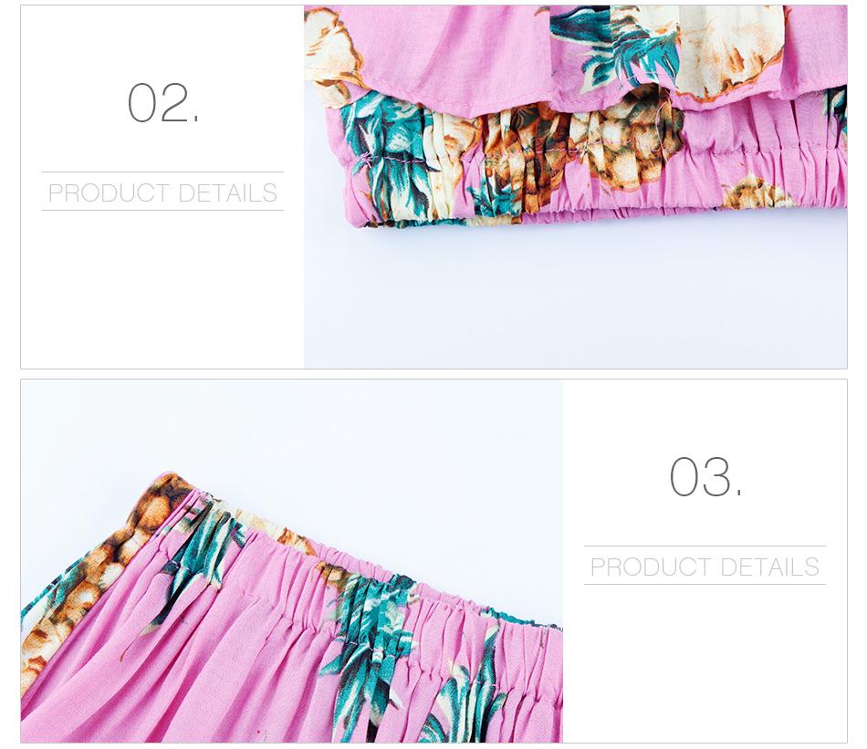 HTB1bdnUpbSYBuNjSspiq6xNzpXaT - 2 PCS/Set Summer Baby Girls Clothing Set Pineapple Print Off Shoulder Top+Skirt Ruffle Girls Dress Beach Sundress Robe Fille