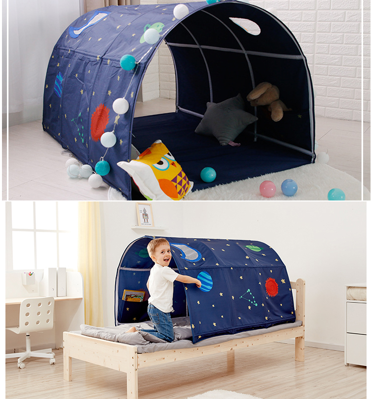 Portable children s Play House Playtent for kids folding small house room decoration tent Crawling Tunnel