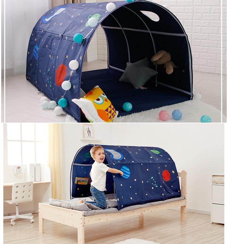 Oyuncaklar ve Hobi Ürünleri'ten Oyuncak Çadırlar'de Taşınabilir çocuk Oyun Evi Oyun Çadırı çocuklar için katlanır küçük ev odası dekorasyon çadır Tarama Tünel oyuncak top havuzu yatak çadır'da  Grup 1
