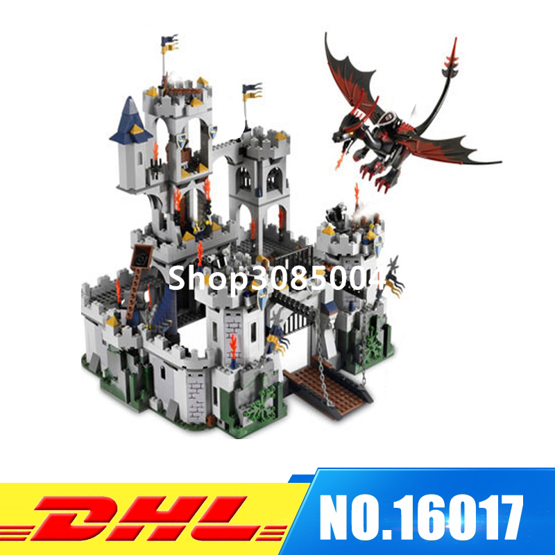IN STOCK Lepin 16017 1023Pcs Castle Series The King`s Castle Siege Set Children Educational Building Blocks Bricks Toys Model lepin 16017 castle series genuine the king s castle siege set children building blocks bricks educational toys model gifts