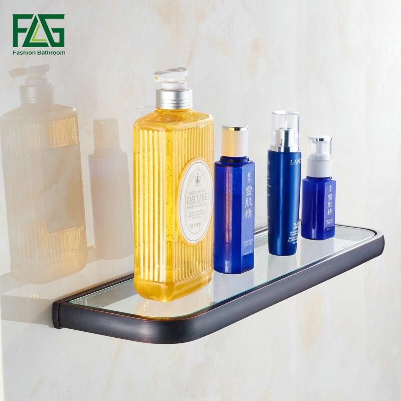 FLG Euro Single Glass Shelf Bathroom Shelf Wall Mounted Oil Rubbed Bronze Solid Brass Tempered Glass Bathroom Accessories 81310 чехол для samsung galaxy note 2 printio slim finnegan