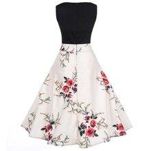 Women Summer Dress 2018 clothing Audrey hepburn Floral robe Retro Swing Casual 50s 60s Vintage Rockabilly Dresses Vestidos EY11