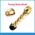 2017 Newest Twisty glass Blunt easy Twisting Corkscrew design with combo helical 7pipe dry herb vaporizer e cigarette