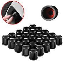 10pcs/lot Car Tire Valve Stems Caps Dome Shape Dust Valve Black Bike Tyre Plastic Cap with Rubber Seal Ring Car Accessories