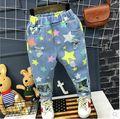 Boys Pants 2017 Spring Baby Boy Girl Colorful Star Printed Jeans Denim Long Pant