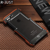 R Just For Apple IPhone 7 Case Luxury Brand Hard Metal Aluminum Wood Protective Phone Case