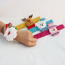 Hot Selling 2 Pcs/lot Christmas Patting Circle Christmas Children Gift Santa Claus Snowman Deer New Year Party Toys