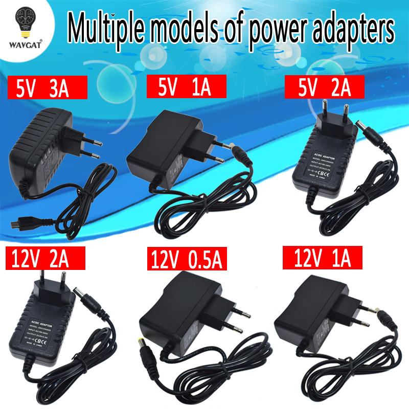<font><b>100</b></font>-240V AC to <font><b>DC</b></font> Power Adapter Supply Charger adapter 5V 9V 12V 1A 2A 3A 0.5A EU Plug 5.5mm x 2.5mm Plug Micro USB for Arduino image