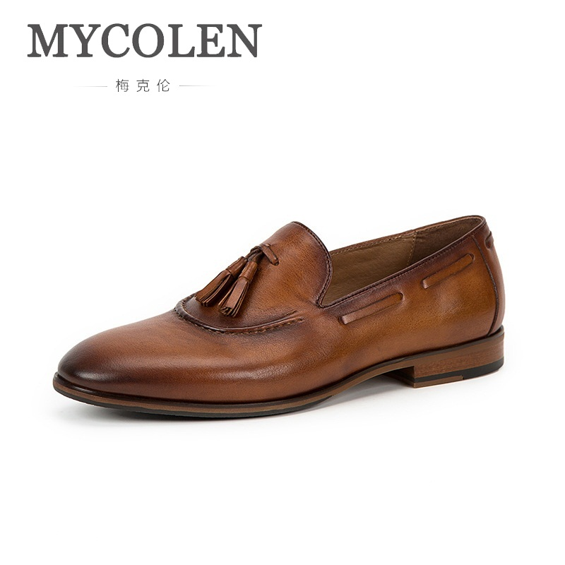 MYCOLEN Brand Handmade Men Shoes High Quality Loafers Anti-Skid Driving Shoes Breathable Slip-On Leather Shoes Men Schuhe HerrenMYCOLEN Brand Handmade Men Shoes High Quality Loafers Anti-Skid Driving Shoes Breathable Slip-On Leather Shoes Men Schuhe Herren