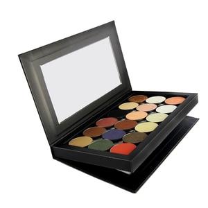 Image 2 - Palette อายแชโดว์ที่ว่างเปล่าแม่เหล็กสองด้านสีดำขนาดใหญ่ Naked Eye Shadow แต่งหน้า Palette DIY Refill 36*36 มม.กระทะ