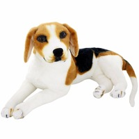 JESONN Giant Realistic Stuffed Animals Dog Beagle Big Plush Toys Puppy for Children's Birthday Gifts