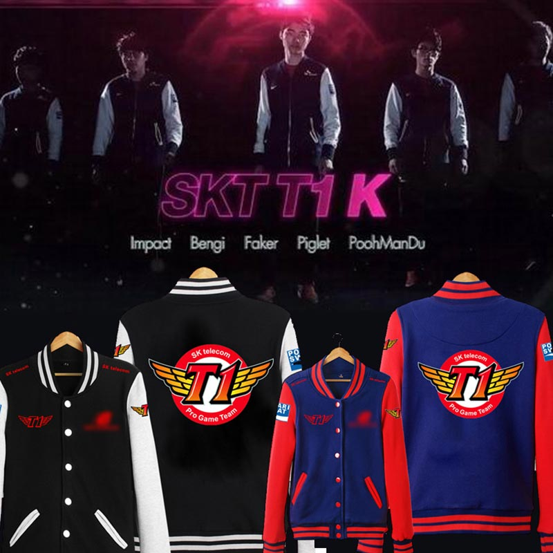 8a8512d9e Faker Hoodies Men Long Sleeve S8 Competition Uniform <font><b>Jacket<