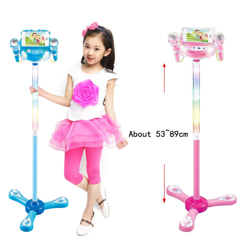 2018 New Creative With Microphone Kara OK Singing Music Be Connected To Mobile Phone Birthday Gifts Toys