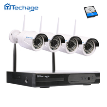 Techage 4CH 1080 P Беспроводной NVR CCTV Системы комплект P2P WI-FI IP Камера Крытый Открытый 1MP/1.3MP/2MP Водонепроницаемый HD комплект видеонаблюдения