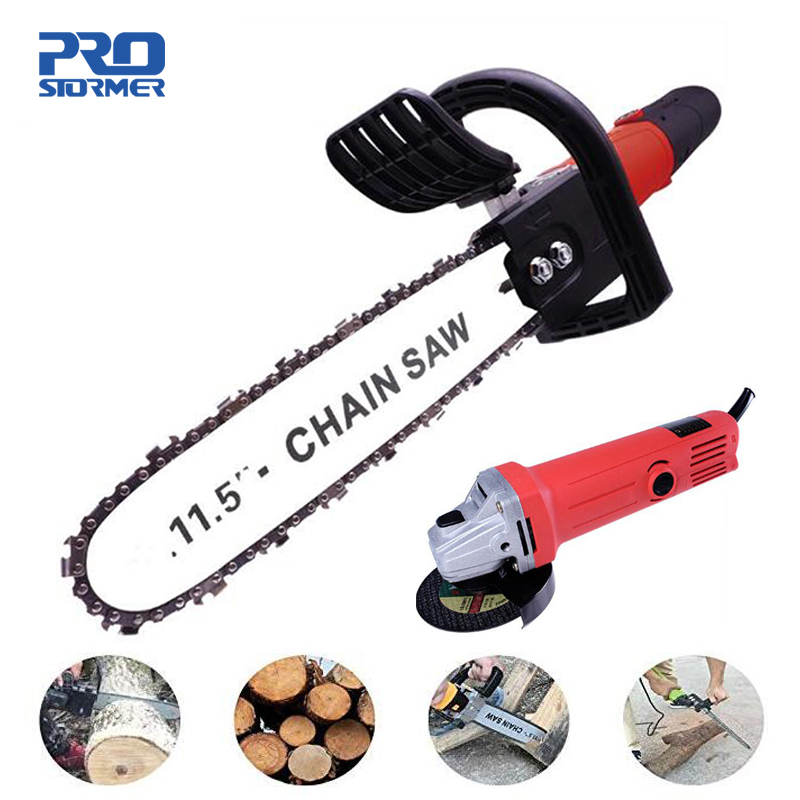 Prostormer Electric Saw 11.5 Inch Chainsaw Bracket Set For M10 Angle Grinder To Chain Saw Woodworking Power ToolProstormer Electric Saw 11.5 Inch Chainsaw Bracket Set For M10 Angle Grinder To Chain Saw Woodworking Power Tool