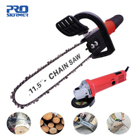 Prostormer Electric Saw 11.5 Inch Chainsaw Bracket Set For M10 Angle Grinder To Chain Saw Woodworking Power Tool