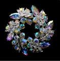 Fashion Unique Style Clear AB Color Rhinestone Crystal Wreath Brooch