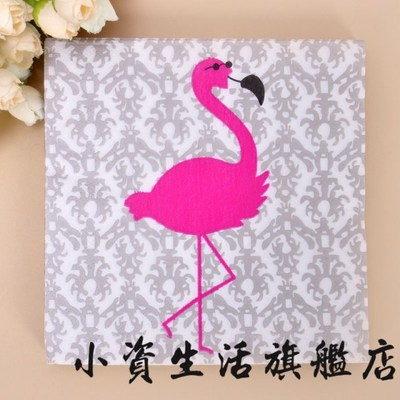 20 pcs Greater Flamingo Paper Napkin 100 Virgin Wood Tissue For Party Decoration LUHONGPARTY in Disposable Party Tableware from Home Garden