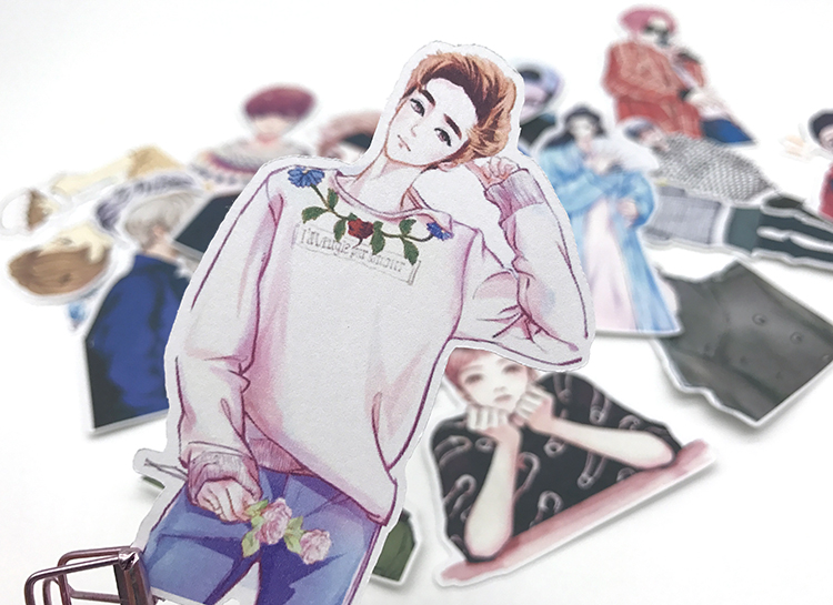17pcs Creative Cute Kawaii Self-made Boys Luhan Hand Painted Star Man Scrapbooking Stickers/decorative  /DIY Craft Photo Albums