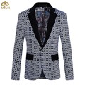 Large Size Mens Print Blazer Brand Clothing 5XL 4XL Flower Printing Fashion Costume Homme Slim Fit Blazer Masculino 2017 New