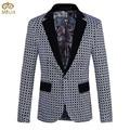 Large Size Mens Print Blazer Brand Clothing 5XL 4XL Flower Printing Fashion Costume Homme Slim Fit Blazer Masculino 2017 New
