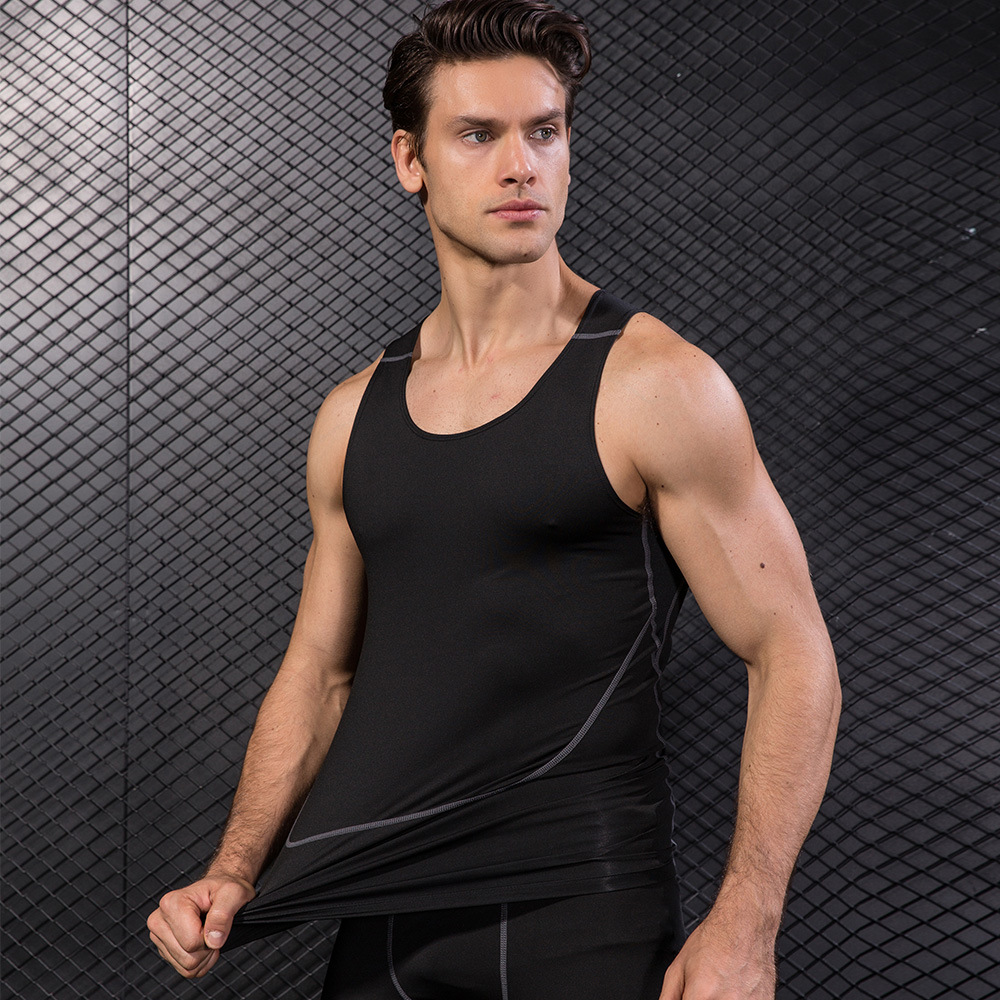 Clothing Casual Gilet Men O-Neck   Tank     Tops   Summer Male Bodybuilding Sleeveless Vest Gymclothing fitness Men Sleeveless 2018 2019