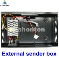 External Sender Box For Full Color LED Display Sending Card With MW Power Supply Included High