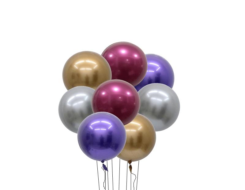 100pcs 18 inch Metallic round balloon wedding Party celebration decorative bubble balloon PE Helium Birthday ballon bobo baloon in Ballons Accessories from Home Garden