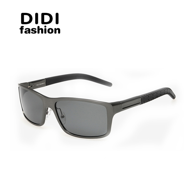 DIDI Black Goggle Cat Eye Polarized Sunglasses Mens Brand Designer Driving Glasses Oversized Gafas De Sol Lunette De Soleil U300