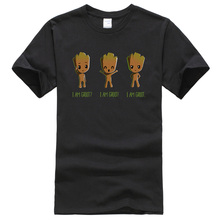 Man's T-shirt 2019 Summer Hip Hop Men's T-shirts Superhero I AM GROOT Anime T-shirt Avengers Infinity War Streetwear T Shirt Men