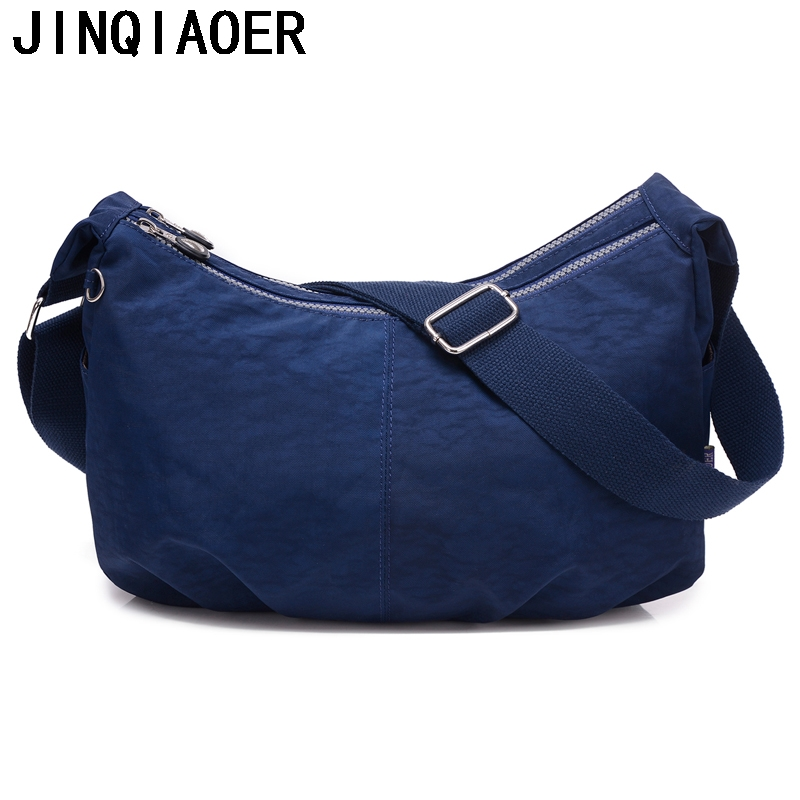 купить Women Messenger Bags Nylon Hobo Shoulder Bags Handbags Women Famous Brands Designer Crossbody Bags Female Bolsa Sac A Main онлайн