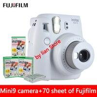 Оригинальный 5 цветов Fujifilm Instax Mini9 Моментальное фото Камера + 70 листов Fuji Instax Mini8 белая пленка + макро объектив Бесплатная доставка
