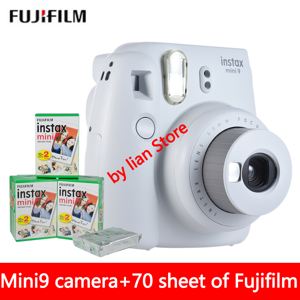 New 5 Colors Fujifilm Instax Mini 9 Instant Photo Camera + 70 sheet Fuji Instax Mini 8 White Film + Close up Lens new 5 colors fujifilm instax mini 9 instant camera 100 photos fuji instant mini 8 film