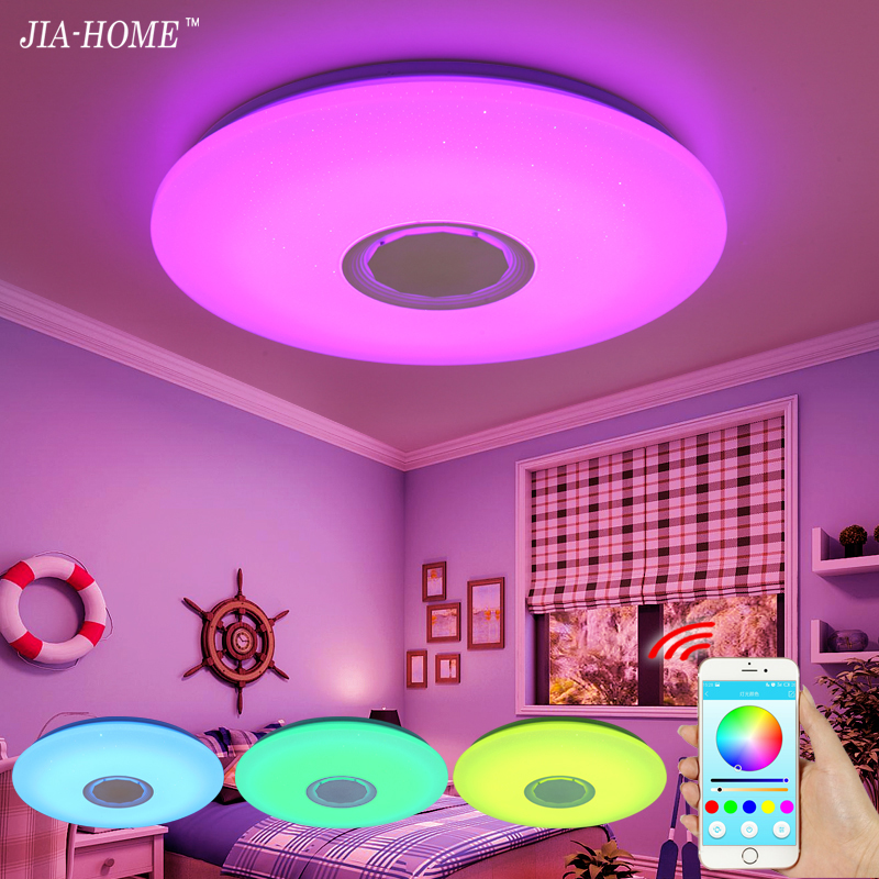 Music LED ceiling Light with Bluetooth control Color Changing Lighting flush mount lamp for bedroom ceiling light fixtures(China)