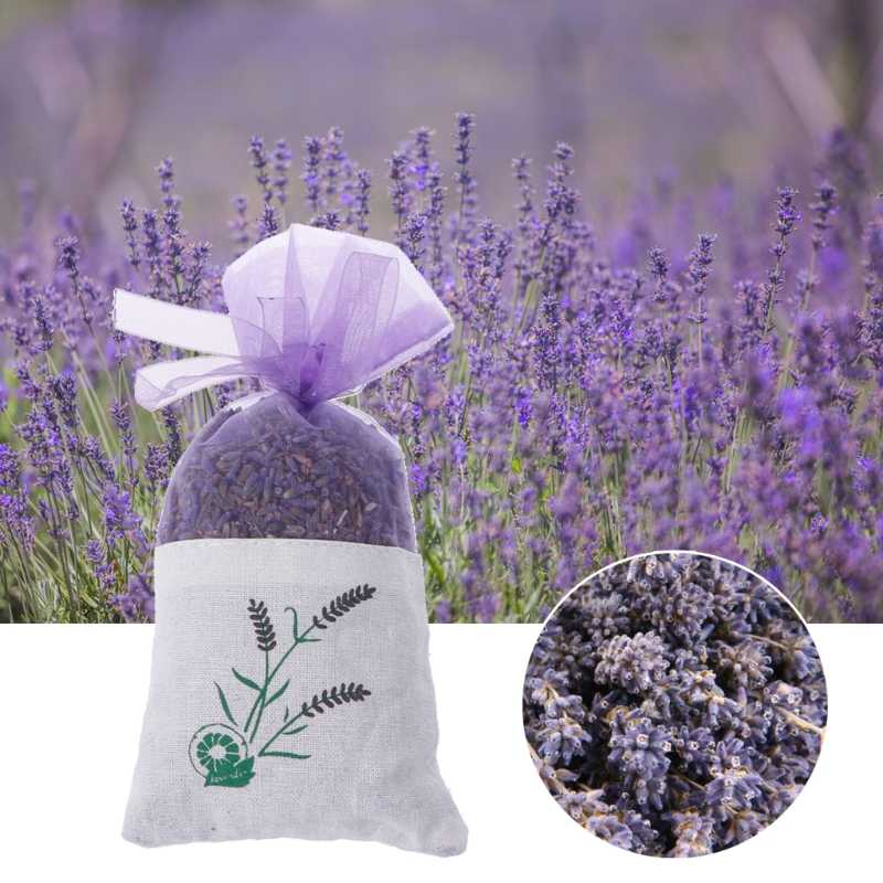 Natural Lavender Bud ดอกไม้แห้งซองกระเป๋า Aromatherapy Aromatic Air Refresh Home Decor